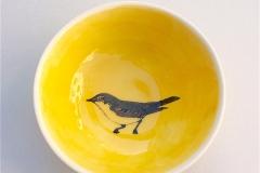gelbe Foundation und Siebdrucktechnik / Silkscreen
