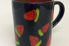 schwarze Foundation und Melonen