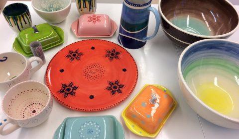 Keramikmaler-Kunstwerke